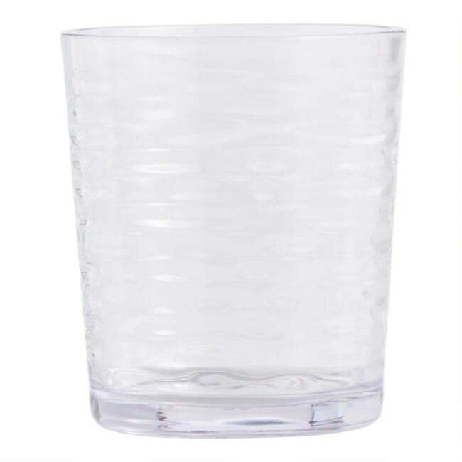 Ribbed Foundry Double Old Fashioned Acrylic Glass Set of 6