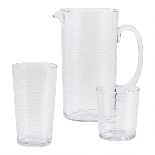 Ribbed Foundry Acrylic Glassware Collection