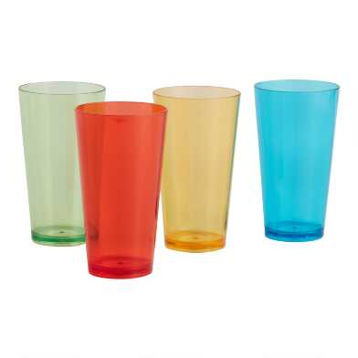 Stackable Rainbow Acrylic Coolers 4 Pack