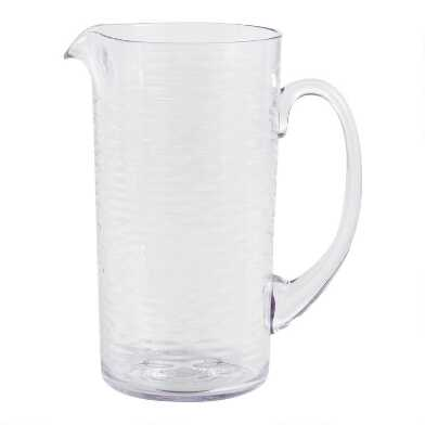 Ribbed Foundry Acrylic Pitcher