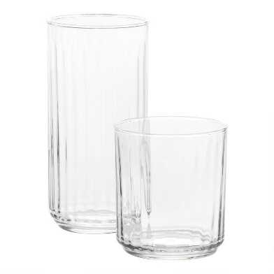 Clear Tacoma Drinking Glasses Set of 6