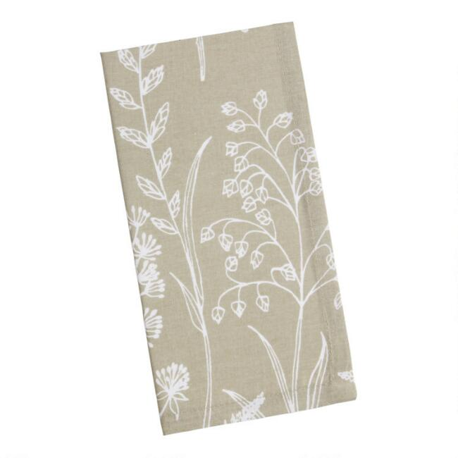 Taupe Wildwood Napkins Set Of 4