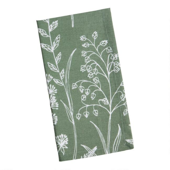 Sage Green Wildwood Napkins Set Of 4
