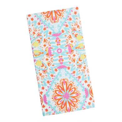 Multicolor Floral Waffle Weave Carly Kitchen Towel