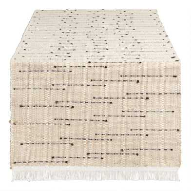Black Dot Arusha Table Runner