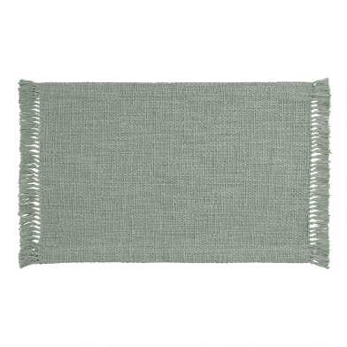 Sage Woven Cotton Deven Placemats Set Of 4