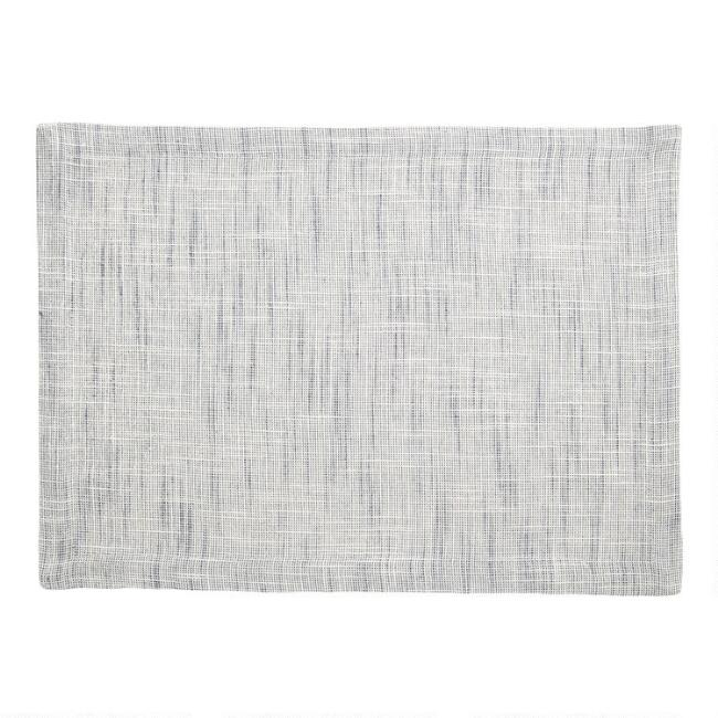 Blue Cotton Slub Placemats Set Of 4