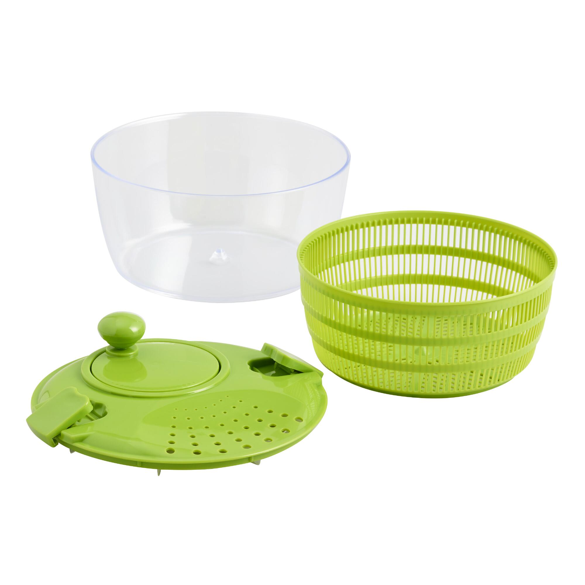 Salad Spinner: Green - Plastic by World Market
