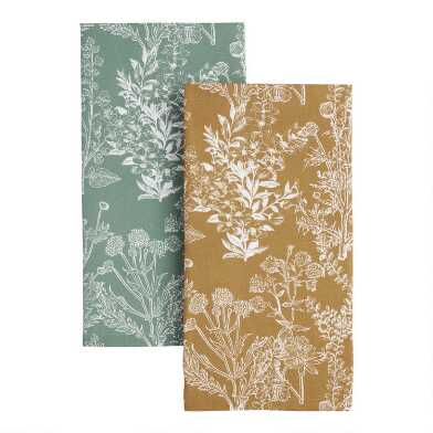 Wild Botanical Print Kitchen Towel