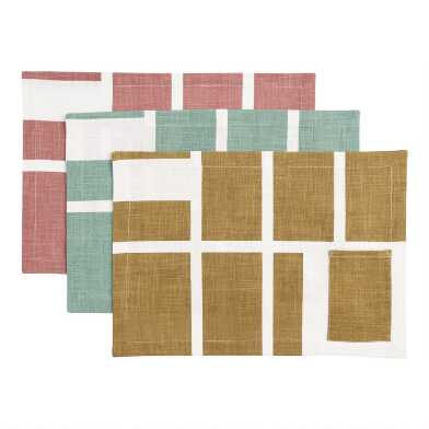 Geo Ethan Placemats With Utensil Pocket Set Of 4