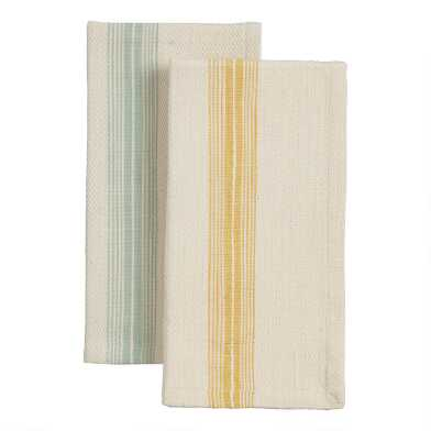 Striped Woven Cotton Napkins Set Of 4