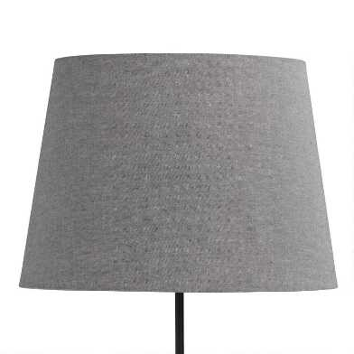 Dark Gray Linen Table Lamp Shade