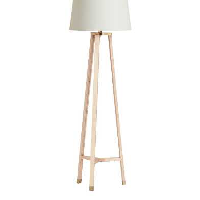 Natural Wood Tripod Juno Floor Lamp Base
