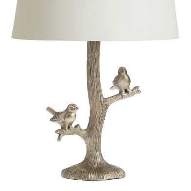 Gold Woodland Birds Accent Lamp Base