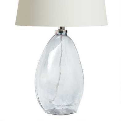 Gray Luster Blown Glass Chloe Table Lamp Base