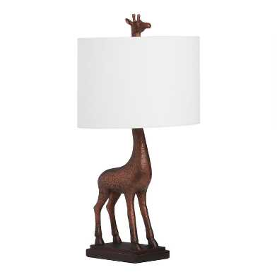 Brushed Copper Giraffe Table Lamp