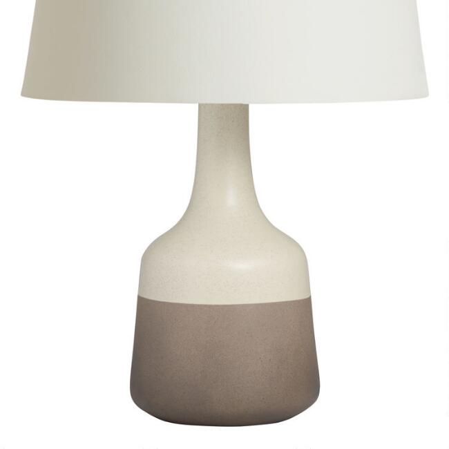 Taupe and Cream Two Tone Ceramic Kinley Table Lamp Base