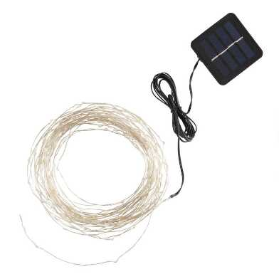 White Fairy 150 Bulb Solar Micro LED String Lights