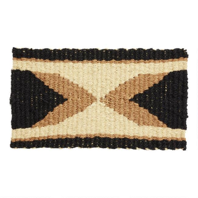 Black and Tan Arrow Reversible Coir Doormat