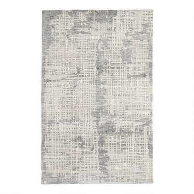 Gray and Slate Green Abstract Greenwich Area Rug