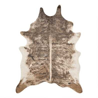 Dark Brindle Printed Faux Cowhide Area Rug