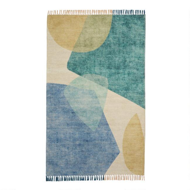 Multicolor Abstract Santorini Indoor Outdoor Rug