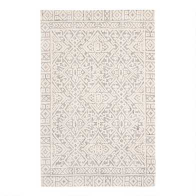 Gray and Ivory Persian Style Charlton Area Rug