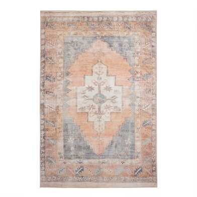 Blush and Blue Persian Style Chelsea Area Rug