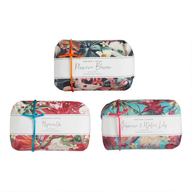 A&G Vibrant Floral Bar Soap