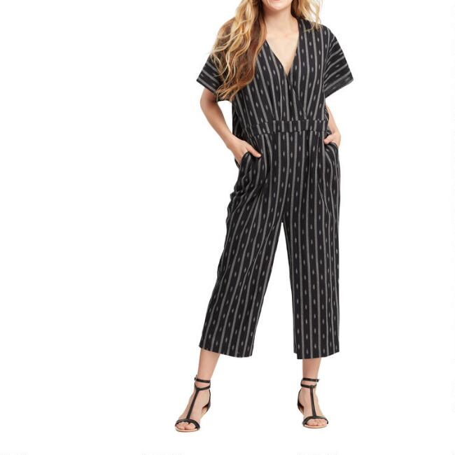 Black And White Alexandra Jumpsuit With Pockets