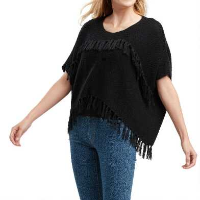 Black Tassel Fringe Sweater