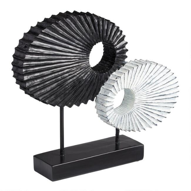 Abstract Oval Decor On Stand