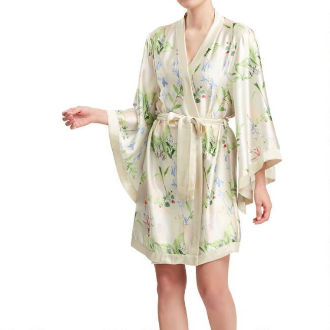 Ivory Multicolor Botanical Jardin Robe
