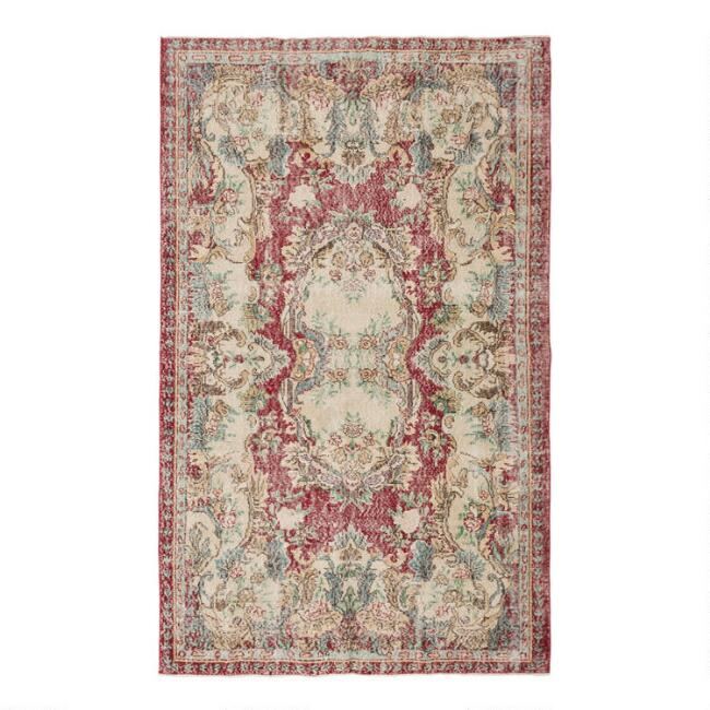 Revival Rugs Red Wool Gebhart Vintage Area Rug
