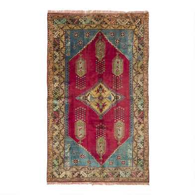 Revival Rugs Multicolor Wool Ilaria Vintage Area Rug