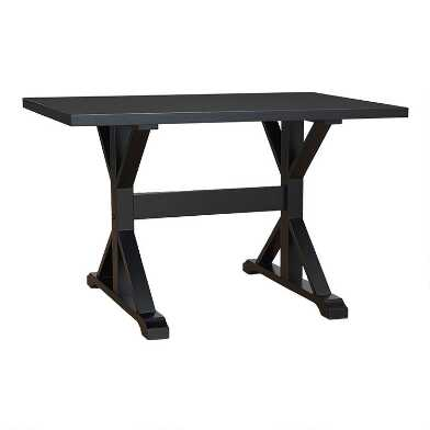 Antiqued Black Trestle Weston Desk