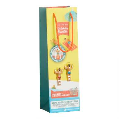 Drinking Buddies Wine Bag with Wine Charms