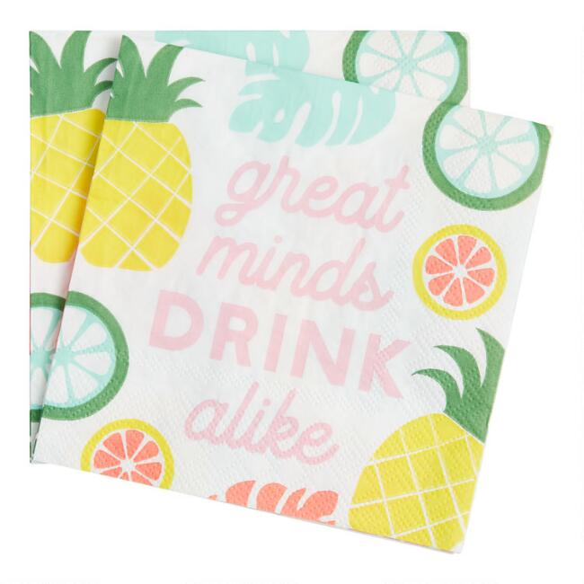 Great Minds Beverage Napkins 20 Count