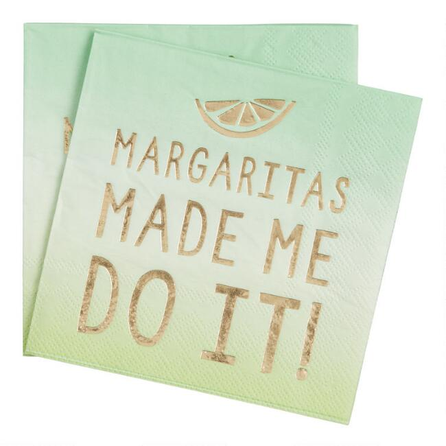 Margaritas Made Me Do It Beverage Napkins 20 Count