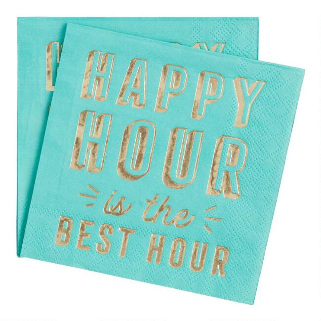 Happy Hour Is The Best Hour Beverage Napkins 20 Count