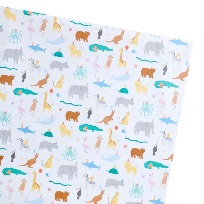 Animal Party Wrapping Paper Sheets