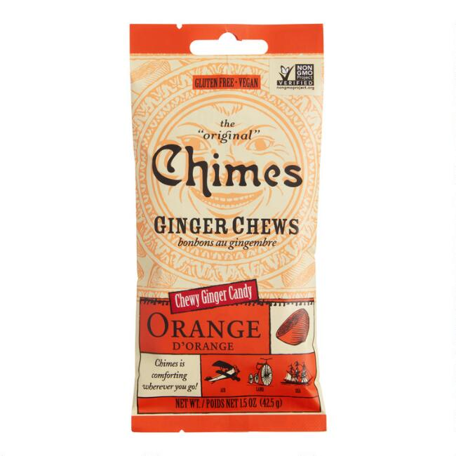 Chimes Orange Ginger Chewy Candy Snack Size