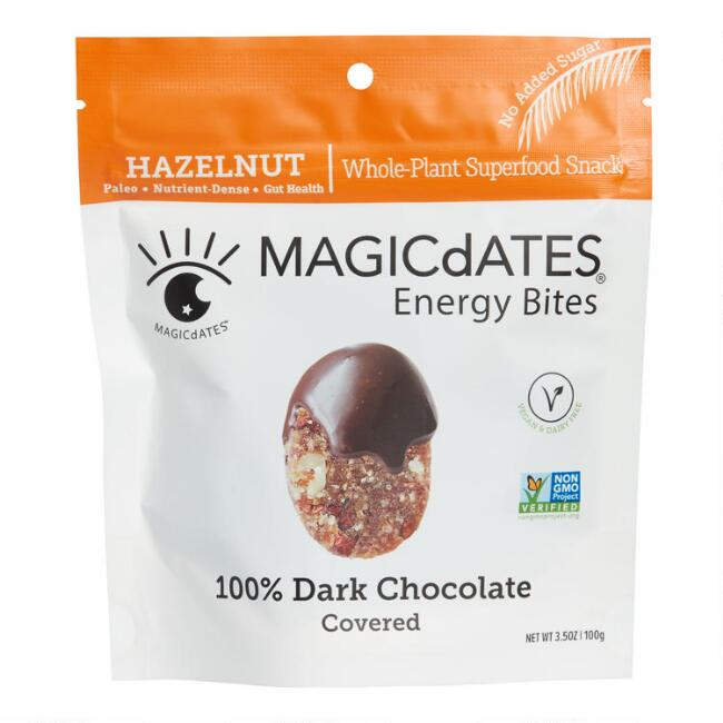 MAGICdATES Dark Chocolate Covered Hazelnut Energy Bites