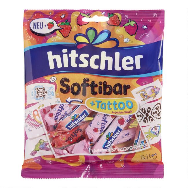 Hitschler Softibar Chewy Candy with Tattoos