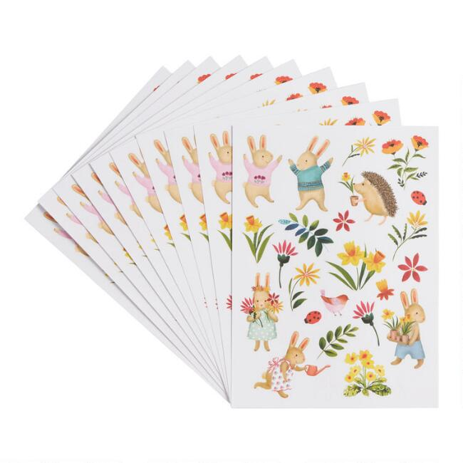 Bunny Sticker Sheets 10 Pack