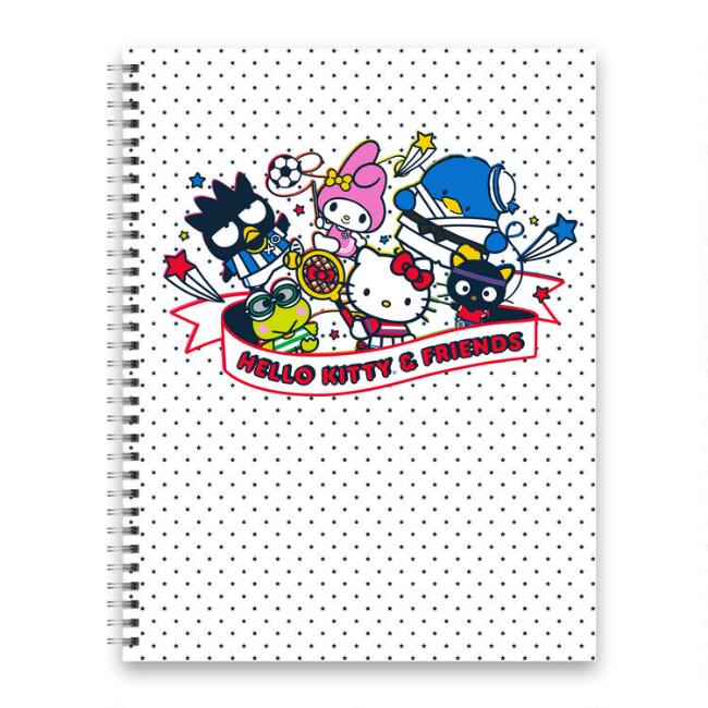 Large Hello Kitty and Friends Sports Spiral Journal