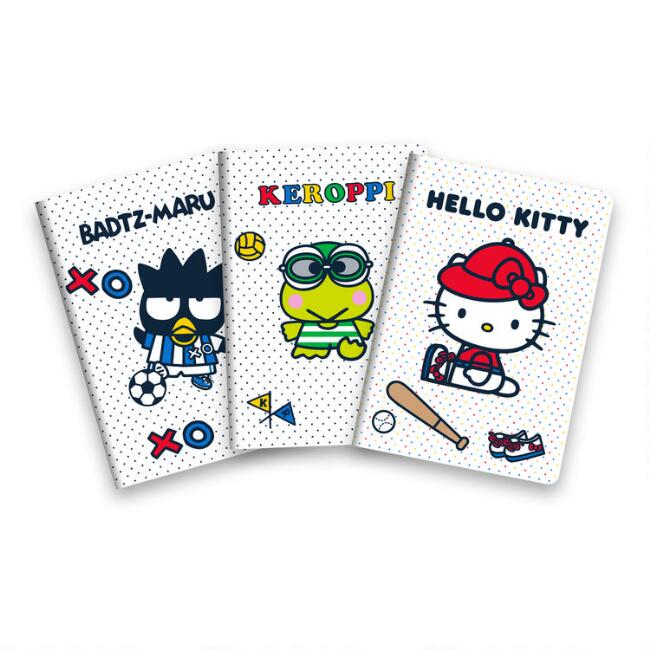 Hello Kitty And Friends Sports Journals 3 Pack