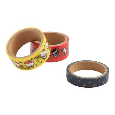 Hello Kitty and Friends Sports Washi Tape 3 Pack
