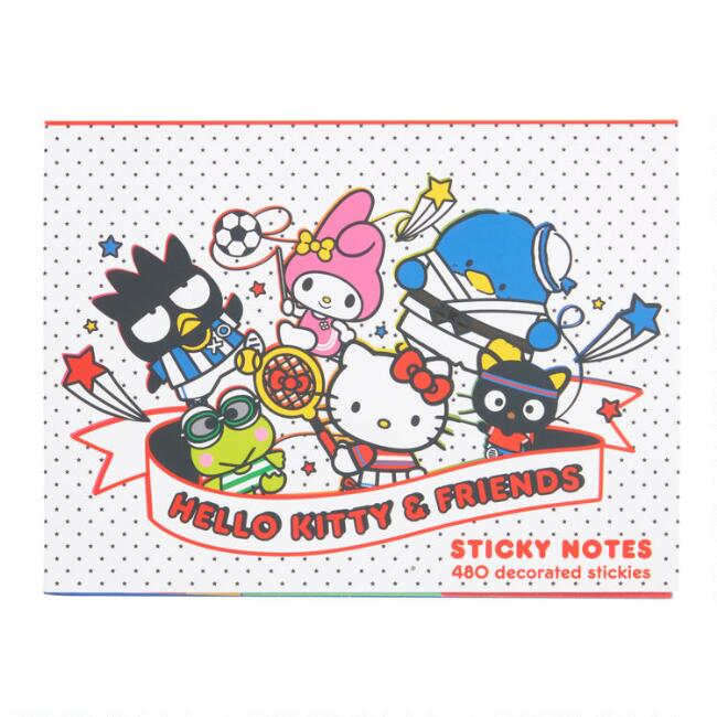 Hello Kitty and Friends Sports Sticky Notes