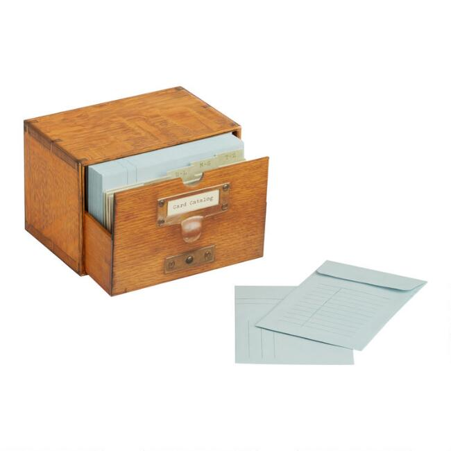 Library of Congress Card Catalog Boxed Notecards